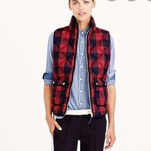 J Crew Excursion Quilted Buffalo Check Vest